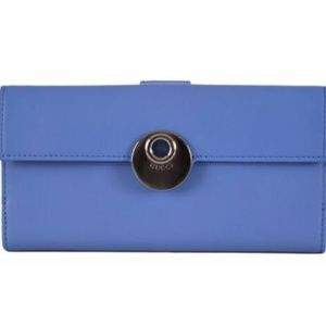 NWT Gucci BLUE Leather Eclipse Wallet 231835 8793